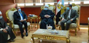 محافظ الغربية يستقبل وزير الأوقاف: ضمن برنامج زيارته للمحافظة