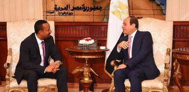 السيسي يستقبل آبي أحمد خلال زيارته لمصر