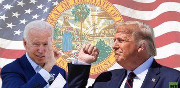 المرشحان الأمريكيان ترامب وبايدن