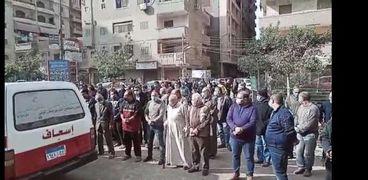 جنازه الكابتن محمد فايز المدير الفني السابق لغزل المحلة