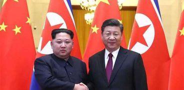 شي جينبينج والزعيم الكوري الشمالي