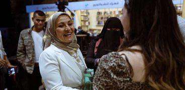 الدكتورة هبة قطب في معرض ساقية الصاوي للكتاب