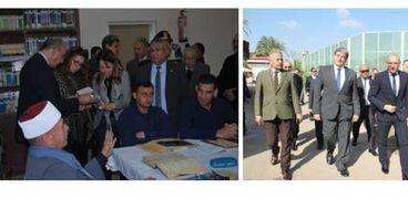 قطاع السجون يستقبل وفد المنظمة العربية لحقوق الإنسان ومنظمة هاندز أوف كاين الإيطالية