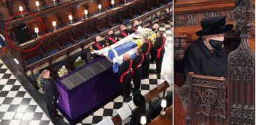 دموع الملكة خلال جنازة الأمير فيليب