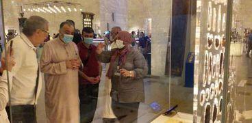 وزير الأوقاف السوري محمد عبدالستار السيد في زيارته إلى المتحف القومي للحضارة المصرية