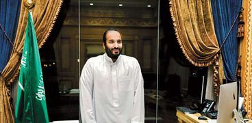 محمد بن سلمان داخل قصره