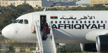 ركاب الطائرة الليبية المختطفة
