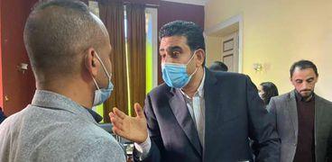 سامي عبد الراضي مدير تحرير جريدة الوطن يزور مقر نقابة الصحفيين في الإسكندرية