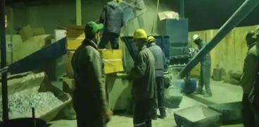 محافظة الإسكندرية تعدم ١٢ طن من مخدر التامول بمدفن الناصرية للمخلفات الخطرة.