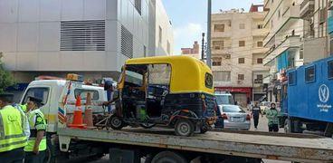 حملات مرورية  في كفر الشيخ