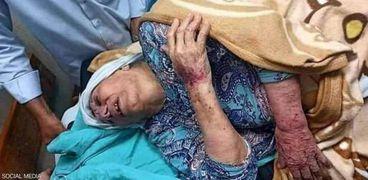 اعتداء أفراد من شرطة حماس في قطاع غزة على أم جبر وشاح