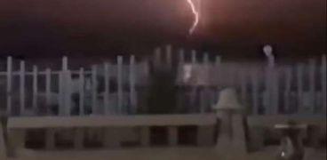 ظهور برق ورعد بالإسكندرية أمس