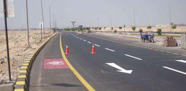 جانب من مشروعات الطرق في مصر