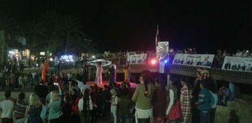مسيرة للاحتفال بمدينة دهب