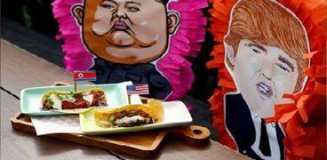 شطيرتان تحملان اسمى «ترامب» و«كيم» بمطعم فى سنغافورة
