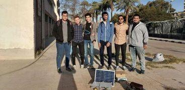 فريق طلاب جامعة أسيوط المشارك فى المهرجان