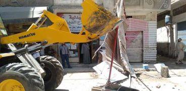 إزالة التعديات ومخالفات البناء بمدن كفر الشيخ