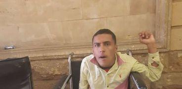 """محمد على الكرسى المتحرك صاحب كتاب """"لا تقل عنى معاق"""""""