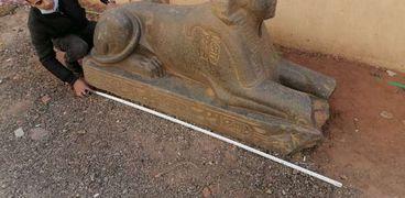 تمثال الإسماعيلية خلال معاينة الآثار