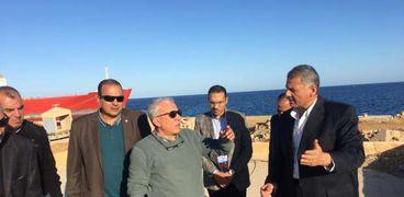 بالصور  رئيس هيئة موانئ البحر الأحمر يتفقد ميناء سفاجا