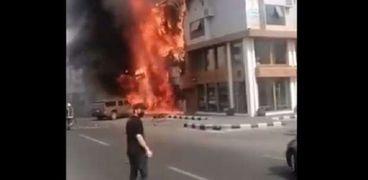 حريق المطعم المصري
