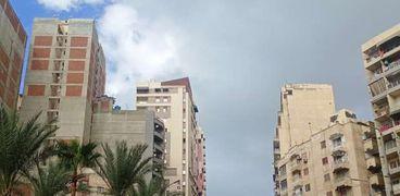 سماء الإسكندرية دون وجود أدخنة بركان لا بالما