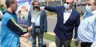 محافظ بني سويف يطلق شعلة أولمبياد الطفل المصري النسخة الثالثة 2021