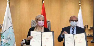 بروتوكول تعاون وزيرة البيئة ووزير العدل