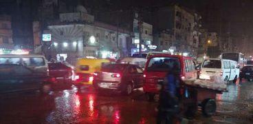 سقوط ثلوج وأمطار غزيزة غرب الإسكندرية