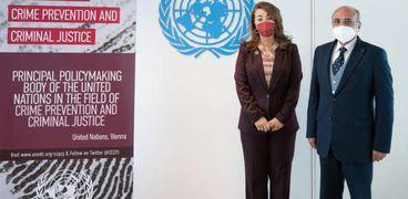 غادة والى ووزير العدل يناقشا التعاون مع الأمم المتحدة في مكافحة الجريمة