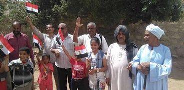 مشهد يبرز مشاركة المصريين في الانتخابات الرئاسية