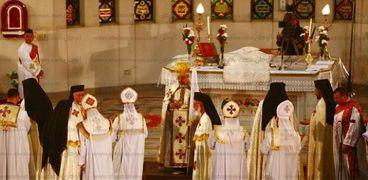قداس عيد الميلاد العام الماضي بالكنيسة الكاثوليكية