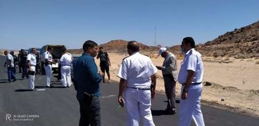 صورة أرشيفية_لحادث بالطريق الصحراوي