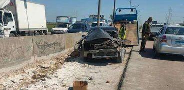 بالأسماء.. «بينهم طفلين» إصابة 7 أشخاص في حادث تصادم بالفيوم