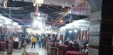 فض حفل زفاف وغلق إداري لقاعة أفراح و149 محلا في بني سويف