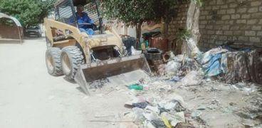 جانب من أعمال النظافة بالقنطرة شرق