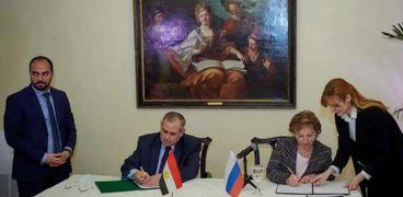 توقيع إعلان نوايا بشأن عام التبادل الإنساني بين مصر وروسيا