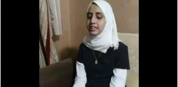 الطالبة رودينة سعد صلاح الدين الأولى في الثانوية العامة على مدارس المكفوفين