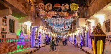 شوارع الإسكندرية مزينه بزينه رمضان