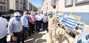 وزير الإسكان ومحافظ جنوب سيناء يتفقدان مشروع تطوير مناطق الرويسات