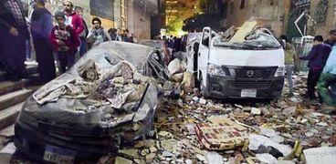 صورة من انفجار شقة الهرم - ارشيفي