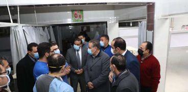 زيارة محافظ المنوفية والوفد المرافق له للمستشفي التعليمي
