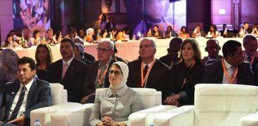 وزيرة الصحة خلال مشاركتها بالمؤتمر