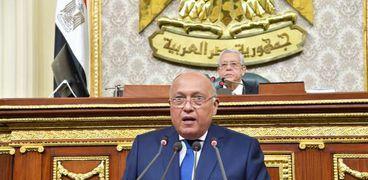 وزير الخارجية سامح شكري أمام مجلس النواب