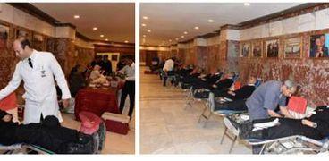 حملات للتبرع بالدم بأكاديمية الشرطة ومديرية أمن المنوفية