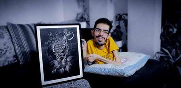 محمد يونس الدلو.. رسام فلسطيني