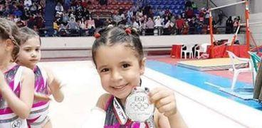 رقية حصلت على المركز الثاني لبطولة الجمهورية في الجمباز تحت سن 6 سنوات