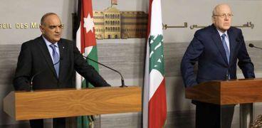 المؤتمر الصحفي لرئيسي وزراء لبنان والأردن