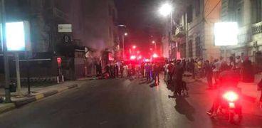 حريق هائل في الإسكندرية