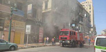 حريق محدود في محل ملابس وسط الاسكندرية